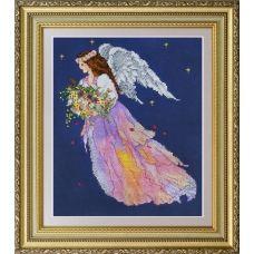 VN-059 Ангел цветов. Набор для вышивки нитками. ТМ Olanta