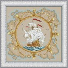 VN-097 Морская история. Набор для вышивки нитками. ТМ Olanta