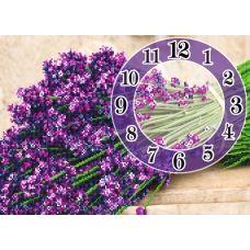 FV-051 (А3) Сиреневые часы. Схема для вышивки бисером СвитАрт
