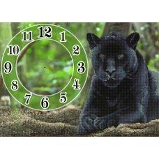 FV-052 (А3) Пантера-часы. Схема для вышивки бисером СвитАрт
