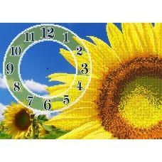 FV-057 (А3) Подсолнух-часы. Схема для вышивки бисером СвитАрт