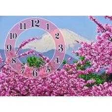 FV-058 (А3) Сирень-часы. Схема для вышивки бисером СвитАрт