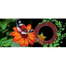 FV-119 (24*55) Бабочка на цветке. Схема для вышивки бисером СвитАрт