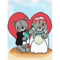 FV-174(А4) Мишки на свадьбе. Схема для вышивки бисером. Свит Арт