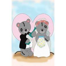 FV-174(А5) Мишки на свадьбе. Схема для вышивки бисером. Свит Арт