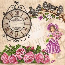 FV-193(27*27) Девочка и часы. Схема для вышивки бисером. Свит Арт