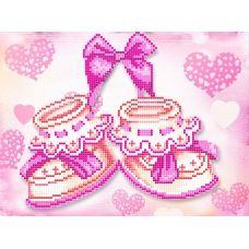 FV-241 (А4) Розовые пинетки. Схема для вышивки бисером. Свит Арт