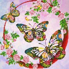 FV-315 (27*27) Бабочки. Схема для вышивки бисером Свит Арт