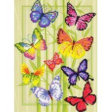 FV-317 (А4) Бабочки. Схема для вышивки бисером Свит Арт
