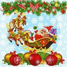 FV-335 (27*27) Новогодние сани. Схема для вышивки бисером СвитАрт
