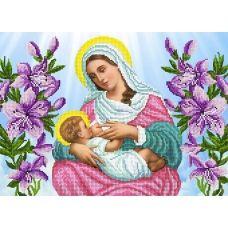 FV-392 (А3) Мадонна с младенцем. Схема для вышивки бисером. СвитАрт