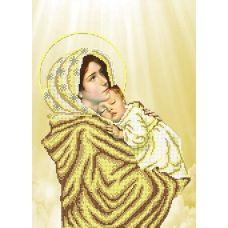 FV-395 (А3) Мадонна с младенцем. Схема для вышивки бисером. СвитАрт