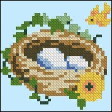 ФЧК-6014 Гнездо канарейки. Схема для вышивки бисером Феникс