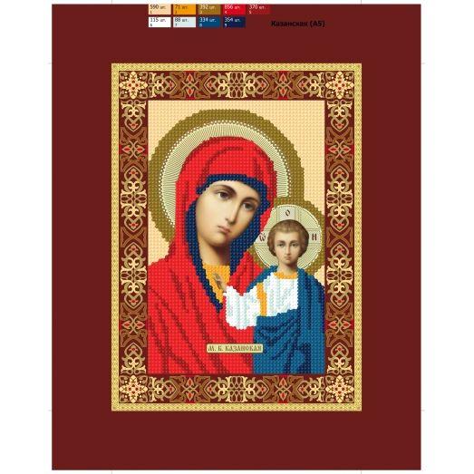 11 (А5) ХОЛСТ. Богородица. Схема для вышивки бисером СвитАрт