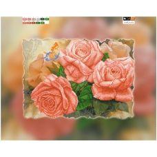 A-032 (А3) ХОЛСТ. Розы. Схема для вышивки бисером ТМ Орхидея