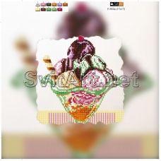 F-032a(21*21) ХОЛСТ. Мороженое. Схема для вышивки бисером СвитАрт