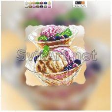 F-032c(21*21) ХОЛСТ. Мороженое. Схема для вышивки бисером СвитАрт