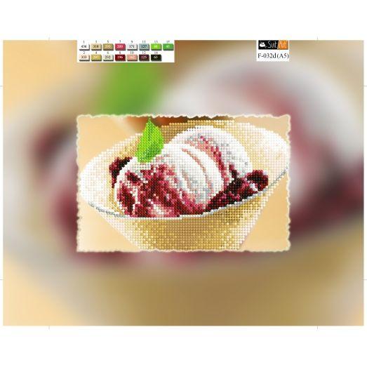 F-032d(А5) ХОЛСТ. Мороженое. Схема для вышивки бисером СвитАрт