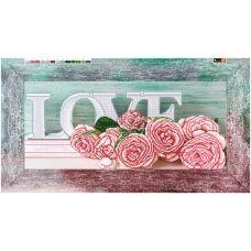 F-396 (29*60) ХОЛСТ. Розовые розы. Схема для вышивки бисером СвитАрт