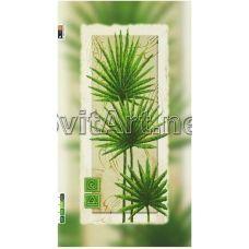 FV-030(29*60) ХОЛСТ. Зеленые листья. Схема для вышивки бисером. Свит Арт