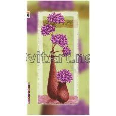 FV-032(29*60) ХОЛСТ. Фиолетовые цветы. Схема для вышивки бисером. Свит Арт