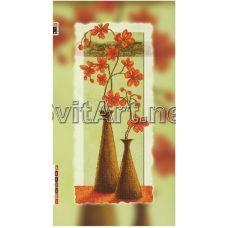 FV-033(29*60) ХОЛСТ. Оранжевые цветы. Схема для вышивки бисером. Свит Арт