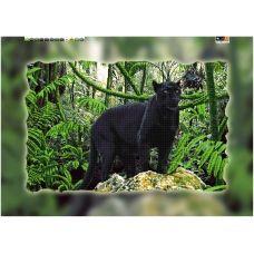 FV-065(А2) ХОЛСТ. Пантера. Схема для вышивки бисером. Свит Арт
