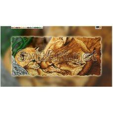FV-072(29*60) ХОЛСТ. Рысь. Схема для вышивки бисером. Свит Арт