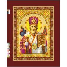 R-030(А3) ХОЛСТ. Св. Николай Чудотворец . Схема для вышивки бисером СвитАрт