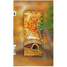 SI-054c(15*30) ХОЛСТ. Осенний мост. Схема для вышивки бисером Свит Арт