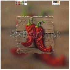 SI-176(21*21) ХОЛСТ. Красный перец. Схема для вышивки бисером СвитАрт