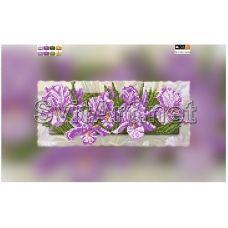 SI-318(15*30) ХОЛСТ. Цветы. Схема для вышивки бисером СвитАрт