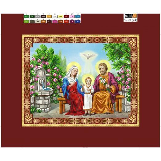SI-501(А4) ХОЛСТ. Святое семейство. Схема для вышивки бисером Свит Арт