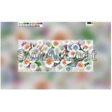 SI-545(15*30) ХОЛСТ. Тюльпаны. Схема для вышивки бисером Свит Арт