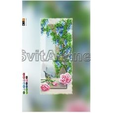 SI-551(15*30) ХОЛСТ. Цветы. Схема для вышивки бисером Свит Арт