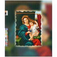 SI-695(А4) ХОЛСТ. Мадонна с ребенком. Схема для вышивки бисером СвитАрт