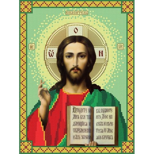 12c Иисус. Схема для вышивки бисером СвитАрт