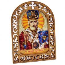 IKF-03 Святой Николай Чудотворец. Набор для вышивки бисером ТМ Вдохновение