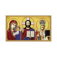 А2-И-485 Иконостас Казанская - Иисус - Николай (частичная). Схема для вышивки бисером ТМ Acorns