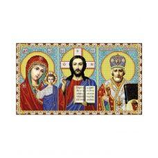 А2-И-484 Иконостас Казанская - Иисус - Николай (полная). Схема для вышивки бисером ТМ Acorns