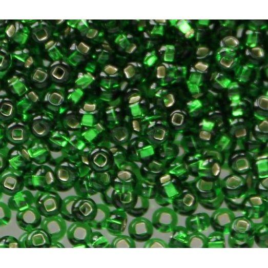 57120 / №478,317 Зелёный, серебряная серединка