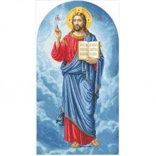 ІН-В (набор) Иисус (намисная), большая. Набор для вышивки бисером БС Солес
