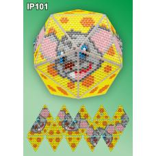 IP-101 Новогодний шар Мышонок. Набор для выкладки пластиковыми алмазиками ТМ Вдохновение