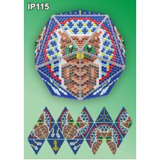 IP-115 Новогодний шар Сова. Ловец снов. Набор для выкладки пластиковыми алмазиками ТМ Вдохновение