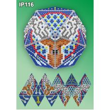 IP-116 Новогодний шар Олень Ловец снов. Набор для выкладки пластиковыми алмазиками ТМ Вдохновение
