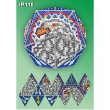 IP-118 Новогодний шар Орел Ловец снов. Набор для выкладки пластиковыми алмазиками ТМ Вдохновение