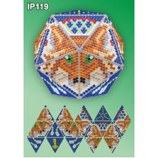 IP-119 Новогодний шар Лиса Ловец снов. Набор для выкладки пластиковыми алмазиками ТМ Вдохновение
