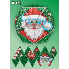 IP-150 Новогодний шар Дед Мороз. Набор для выкладки пластиковыми алмазиками ТМ Вдохновение