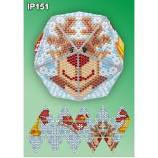 IP-151 Новогодний шар Олень. Набор для выкладки пластиковыми алмазиками ТМ Вдохновение