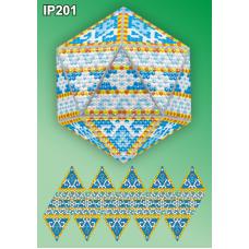 IP-201 Новогодний шар Мозаика. Набор для выкладки пластиковыми алмазиками ТМ Вдохновение